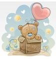Birthday card with Cute Bear vector image
