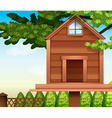 A wooden bird house vector image