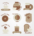 Coffee flat and vintage label design vector image