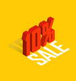 10 percent off sale red object 3d vector image vector image