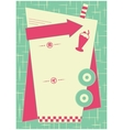 1950s Diner Inspired Background and Frame vector image vector image