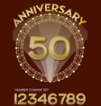 50th anniversary celebration in elegant golden vector image vector image
