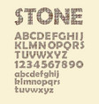 alphabet in stone cubes texture design uppercase vector image