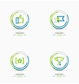 Award icon set Logo collection vector image