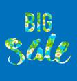 big blue sale lettering vector image vector image