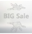 big sale on the arm The vector image