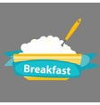 Breakfast Cereal Oatmeal Icon in Modern Flat vector image vector image