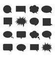 bubble talk icon set vector image vector image