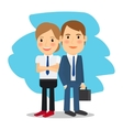 Business partners man and woman vector image