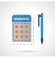 Calculator and pen color icon vector image vector image