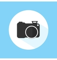 Camera Icon Silhouette Photography Symbol vector image