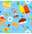 Candies And Ice Cream Seamless Pattern vector image