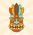 cartoon ethnic mask vector image vector image