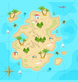 cartoon tropical island in ocean top view exotic vector image