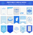 Christmas Retro Snowflakes Set vector image vector image