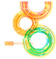 circular lines motion on a white vector image vector image