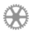 clock gearwheel halftone dotted icon vector image