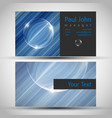 colorful and elegant business card design with vector image vector image