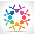 Colorful People Connection concept vector image