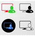 computer doctor eps icon with contour vector image vector image