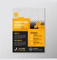 creative business brochure designs template vector image
