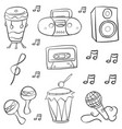 doodle of music style hand draw vector image vector image