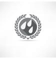 drops icon vector image vector image