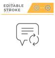 feedback editable stroke line icon vector image vector image