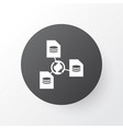 file sharing icon symbol premium quality isolated vector image