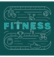 Fitness club banner vector image