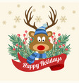 funny christmas card with tree branches and vector image vector image