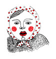 girl red polka dot vector image