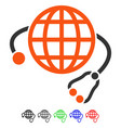 global medicine flat icon vector image