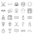 hall icons set outline style vector image
