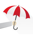 hand with red umbrellas create shading vector image