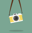 hanging vintage camera flat style vector image vector image