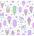 ice cream background sweet food seamless pattern vector image vector image