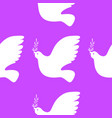 international peace day white dove with olive vector image