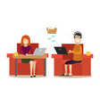 internet people flat vector image vector image