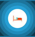 isolated bed flat icon bearings element vector image vector image
