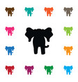 isolated elephant icon proboscis element vector image vector image