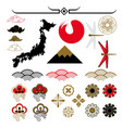 japanese pattern elements vector image vector image