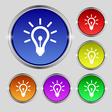 Light bulb icon sign Round symbol on bright vector image