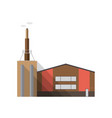 modern factory building with pipe emitting smoke vector image vector image