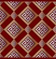 modern geometric greek key seamless pattern vector image vector image