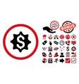 Money Award Flat Icon with Bonus vector image vector image