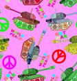 No war seamless pattern hippie background world vector image vector image