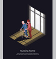 nursing home isometric design concept vector image vector image