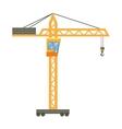 Orange hoisting crane icon cartoon style vector image vector image