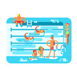 public swimming pool vector image vector image